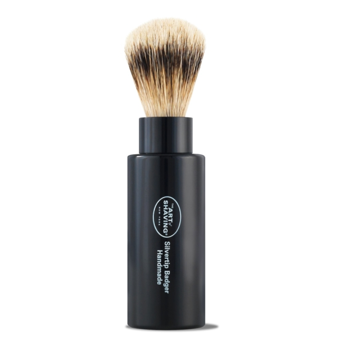 The Art of Shaving Travel Brush Turnback S-Tip - Black