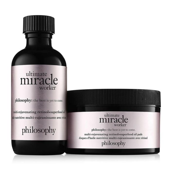 philosophy Ultimate Miracle Worker Multi-Rejuvenating Retinol+Superfood Oil Pads (60ct)